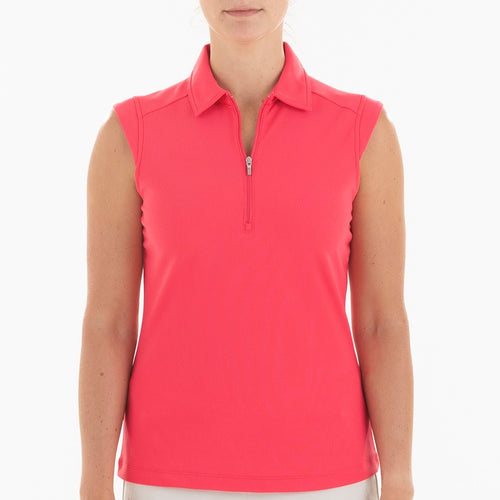 NI0210101 Nivo Nikki Women's Sleeveless Polo Shirt Geranium Product Image Front