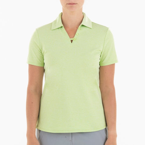 NI0210112 Nivo Ginger Women's Key Lime Jacquard Polo Shirt Product Image Front
