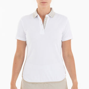NI0210125 Nivo Birdy Women's White Polo Shirt Product Image Front