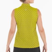 NI0210135 Nivo Sammy Women's Sunny Yellow V-Neck Sleeveless Polo Shirt Product Image Back