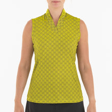 NI0210135 Nivo Sammy Women's Sunny Yellow V-Neck Sleeveless Polo Shirt Product Image Front