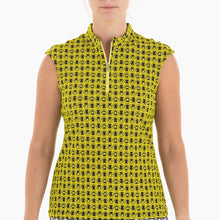 NI0210153 Nivo Luisa Women's Black & Yellow Liv Cool Sleeveless Tank Top Product Image Front