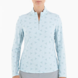 NI0210155 Nivo Lassie Women's Ice Blue Liv Cool Mock Midlayer Shirt Product Image Front