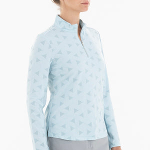 NI0210155 Nivo Lassie Women's Ice Blue Liv Cool Mock Midlayer Shirt Product Image Side