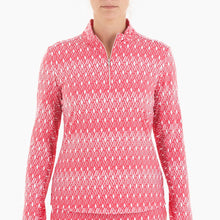 NI0210157 Nivo Leola Women's Geranium Liv Cool Mock Mid Layer Shirt Product Image Front