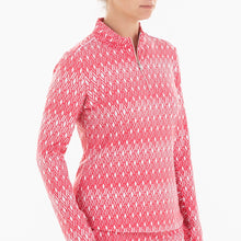 NI0210157 Nivo Leola Women's Geranium Liv Cool Mock Mid Layer Shirt Product Image Side