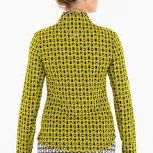 NI0210158 Nivo Letty Women's Black & Yellow Liv Cool Mock Mid Layer Shirt Product Image Back