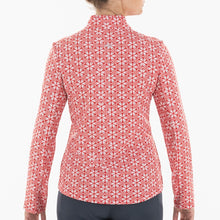 NI0210159 Nivo Lia Women's Red Liv Cool Mock Midlayer Shirt Product Image Back