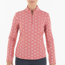 NI0210159 Nivo Lia Women's Red Liv Cool Mock Midlayer Shirt Product Image Front