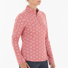 NI0210159 Nivo Lia Women's Red Liv Cool Mock Midlayer Shirt Product Image Side