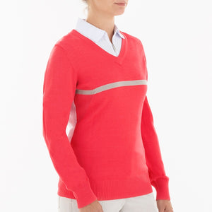 NI0210201 Nivo Billie Women's V-Neck Sweater Product Image Side