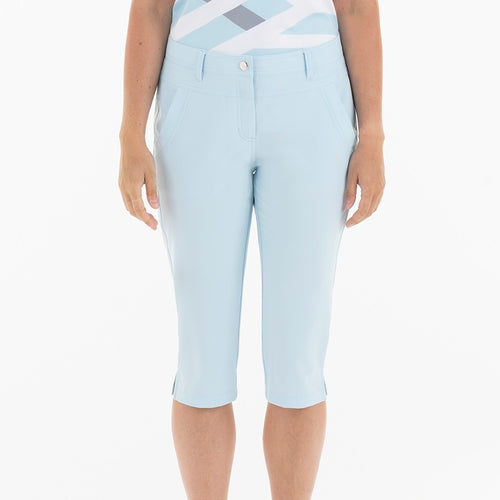 NI0210410 Mivo Mandy Ladies Ice Blue Knee Length Long Shorts Product Image Front