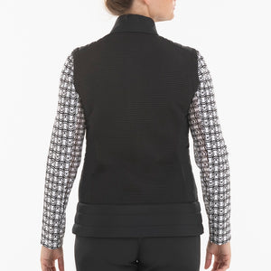 NI0210500 Nivo Kelsey Women's Black Full-Zip Quilted Vest Product Image Back