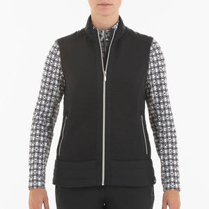 NI0210500 Nivo Kelsey Women's Black Full-Zip Quilted Vest Product Image Front
