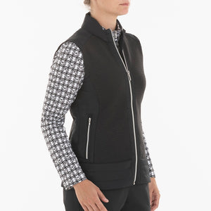 NI0210500 Nivo Kelsey Women's Black Full-Zip Quilted Vest Product Image Side