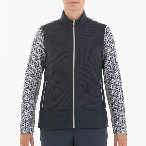 NI0210500 Nivo Kelsey Women's Navy Full-Zip Quilted Vest Product Image Front