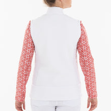 NI0210500 Nivo Kelsey Women's White Full-Zip Quilted Vest Product Image Back