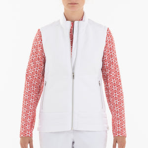 NI0210500 Nivo Kelsey Women's White Full-Zip Quilted Vest Product Image Front