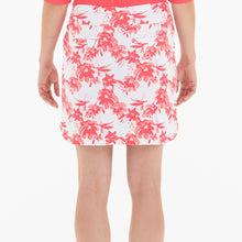 NI0210630 Nivo Ling Women's White & Geranium Floral Print Liv Cool Pull-On Skort Product Image Back