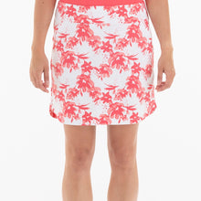 NI0210630 Nivo Ling Women's White & Geranium Floral Print Liv Cool Pull-On Skort Product Image Front