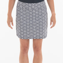 NI0210633 Nivo Love Women's Navy & White Floral Print Liv Cool Pull-On Skort Product Image Front