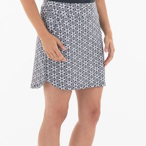 NI0210633 Nivo Love Women's Navy & White Floral Print Liv Cool Pull-On Skort Product Image Side