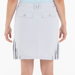 NI0210636 Nivo Natalee Light Grey Gingham Check Skort Product Image Back