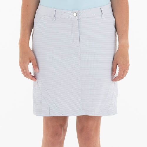 NI0210636 Nivo Natalee Light Grey Gingham Check Skort Product Image Front