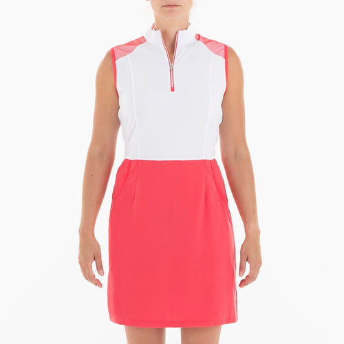 NI0210641 Nivo Brandi Ladies Sleeveless Block Colour Dress Product Image Front