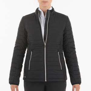 NI0210700 Nivo Korra Women's Black Full-Zip Quilted Jacket Product Image Front