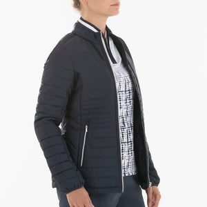 NI0210700 Nivo Korra Women's Navy Full-Zip Quilted Jacket Product Image Side