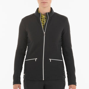 NI0210701 Nivo Kerrigan Women's Black Full-Zip Jacket Product Image Front