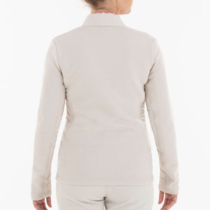 NI0210701 Nivo Kerrigan Women's Cement Full-Zip Jacket Product Image Back
