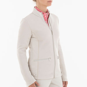 NI0210701 Nivo Kerrigan Women's Cement Full-Zip Jacket Product Image Side