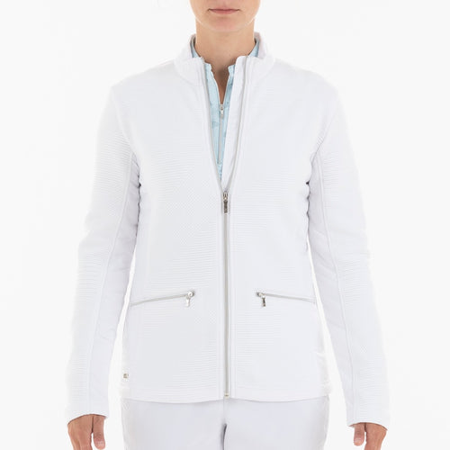 NI0210701 Nivo Kerrigan Women's White Full-Zip Jacket Product Image Front