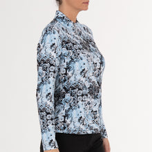 NI0211156 Nivo Lady Women's Pacific Blue Liv Cool Mock Mid-Layer Shirt Product Image Side