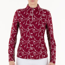 NI0211157 Nivo Lanisa Women's Rouge Liv Cool Mock Mid-Layer Shirt Product Image Front