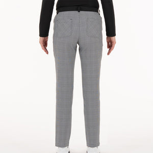 NI0211414 Nivo Irene Women's Black Check Stretch Woven Trousers Product Image Back