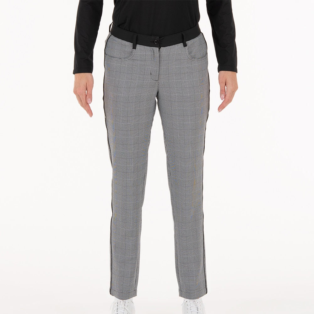 NI0211414 Nivo Irene Women's Black Check Stretch Woven Trousers Product Image Front