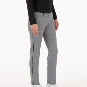 NI0211414 Nivo Irene Women's Black Check Stretch Woven Trousers Product Image Side