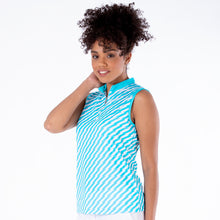 NI1211133 Nivo Savanna Ladies Aqua Sleeveless Mock Neck Top Product Image Side