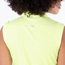 NI1211144 Nivo Corey Sleeveless Polo Shirt in Lime Product Image Rear Closeup