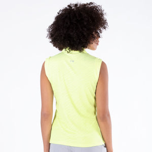 NI1211144 Nivo Corey Sleeveless Polo Shirt in Lime Product Image Rear