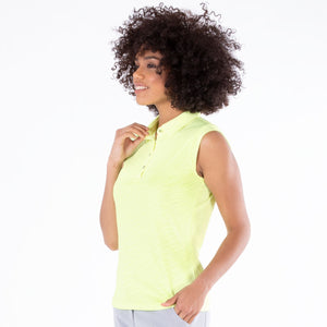 NI1211144 Nivo Corey Sleeveless Polo Shirt in Lime Product Image Side