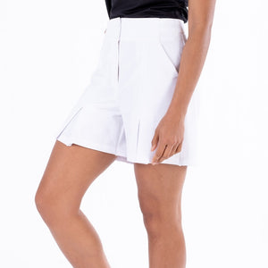 NI1211300 Nivo Dua Ladies Culotte Shorts in White Product Image Side