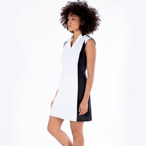 NI1211641 Nivo Dominque Sleeveless Dress in Black and White Product Image Side