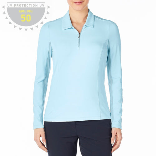 Nivo Blue Liv Cool Long Sleeve Polo Top