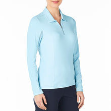 Nivo Women's Liv Cool Long Sleeve Polo Shirt Product Image Side NI7210153_401