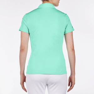 NI8210100 Nivo Women's Natasha Atlantis Green Essentials Polo Shirt Product Image Back