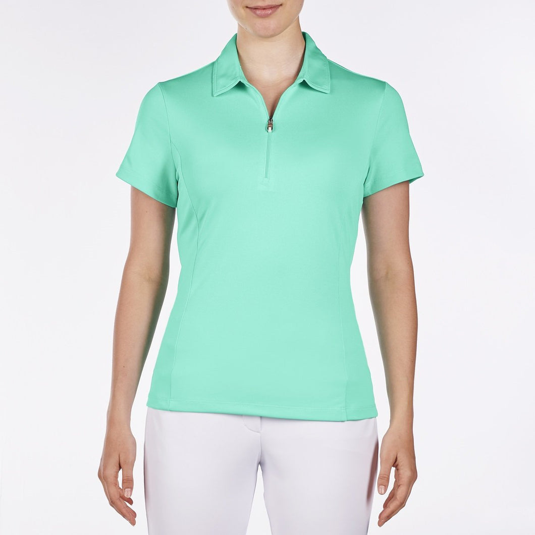 NI8210100 Nivo Women's Natasha Atlantis Green Essentials Polo Shirt Product Image Front